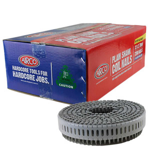 Airco 52mm 0 Deg Ring Shank HDG Decking Coil Nails Box of 1,800 - YF52258RD