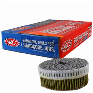 Airco 52mm 0 Deg Ring Shank Stainless Steel Decking Coil Nails Box of 1,800 - YF52253RD