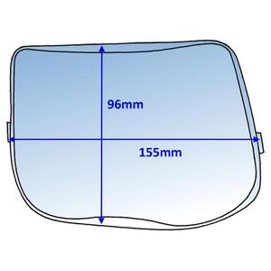 Weldclass 155x96mm Clear Outer Lens Suit Speedglas 9100 (526000) - 10Pk - P7-CLSG91/10