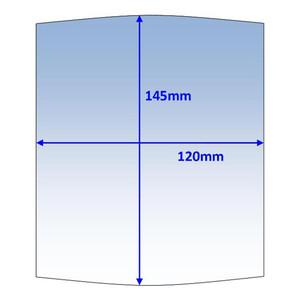 Weldclass 145x120mm Clear Outer Lens Suit Miller Elite/Titanium (216326p) - 10Pk - P7-CLME/10