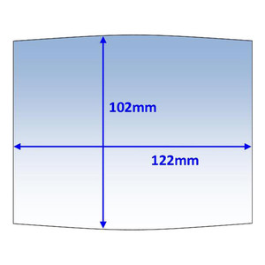 Weldclass 122x102mm Clear Outer Lens Suit Weldclass Mach2/WIA Blue (235621p) - 10Pk - P7-CLM2/10