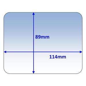 Weldclass 114x89mm Clear Outer Lens Suit Cigweld Weldskil (454308) - 10Pk - P7-CLCWS/10