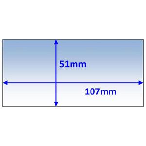 Weldclass 107x51mm Universal Clear Inner Lens - 5Pk - P7-CL10751/5