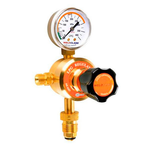 Weldclass LPG/ Propane Regulator Single Gauge 0-300 Kpa Output - 4-LPR1
