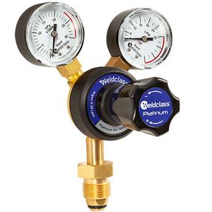 Weldclass Argon Regulator Twin Gauge 0-28 L/min Flow Rate - 4-AR1