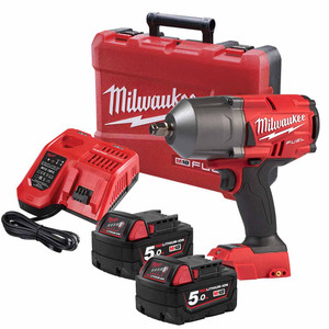 """Milwaukee 18V 5.0ah Li-Ion 1/2"""" Square Friction Ring FUEL High Torque Impact Wrench Kit - M18FHIWF12-502C"""