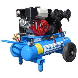 Peerless PV25 545 L/M Twin Tank Petrol Air Compressor - 65L Tank - 00563