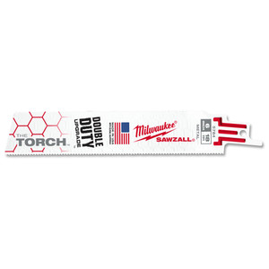 Milwaukee 150mm 18TPI 'The Torch' SAWZALL Blade - Metal Demolition - 5 Pack - 48005784