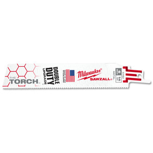 Milwaukee 150mm 14TPI 'The Torch' SAWZALL Blade - Metal Demolition - 5 Pack - 48005782