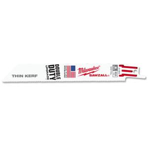 Milwaukee 150mm 24TPI 'Thin Kerf' SAWZALL Blade - 5 Pack - 48005186
