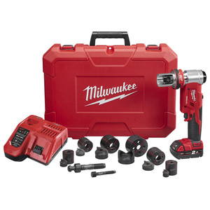 """Milwaukee M18™ FORCELOGIC™ 6T Knockout Tool 16mm (5/8"""") - 63mm (2-1/2"""") - M18HKP-201C"""
