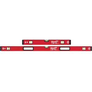 "Milwaukee 600mm/1200mm (24""/48"") REDSTICK™ Magnetic Box Level Set - MLBXSM48"