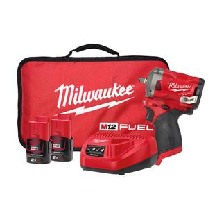 "Milwaukee M12 FUEL™ 3/8"" Stubby Impact Wrench Kit  - M12FIW38-202B"