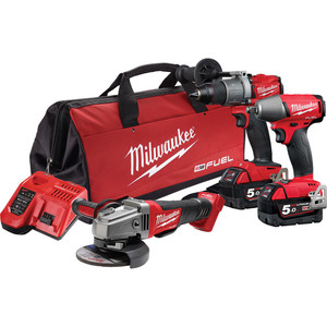 Milwaukee M18 FUEL™ 3 Piece Power Pack 3B2 - M18FPP3B2-502B