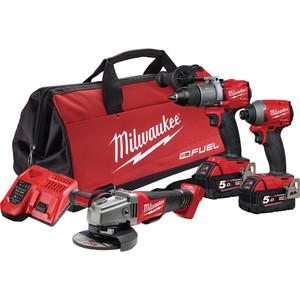 Milwaukee M18 FUEL™ 3 Piece Power Pack 3A2 - M18FPP3A2-502B