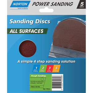 Norton Abrasives 178mm Adalox Speed Grip Sanding Disc - P40 - Pack of 5
