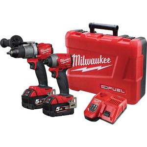 Milwaukee M18 FUEL Power Pack 2A2 with Bonus M12 2.0Ah Battery- M18FPP2A2-502C