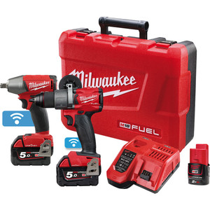 Milwaukee M18 FUEL™ ONE-KEY™ 2 Piece Power Pack 2B2 with BONUS M12 2.0Ah Battery - M18ONEPP2B2-502C
