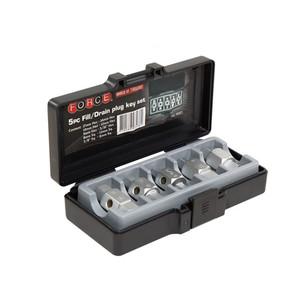 Force 5 Piece Drain Plug Spanner Key - 5051