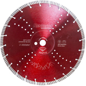 """Renegade Industrial 350mm(14"""") Turbo Diamond Blade Granite - RIHP14"""