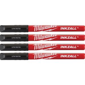 Milwaukee INKZALL™ Black Ultra Fine Point Pens 4PK - 48223164