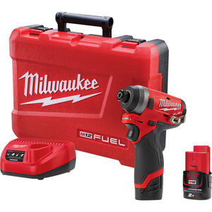 "Milwaukee M12 FUEL™ 1/4"" Hex Impact Driver Kit"