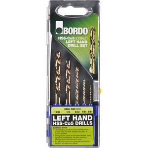 Bordo Cobalt Left Handed Drill Set 5 Pc - 2005-S1