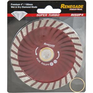 Renegade Industrial 100mm Super Turbo Diamond Blade - RISUP4