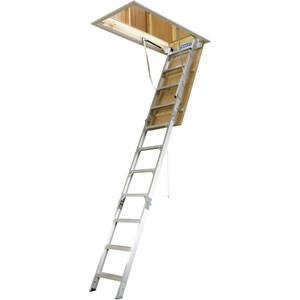 Bailey Dom 170kg Aluminium Folding Attic Ladder - (2.34m/3.12m) - FS13560