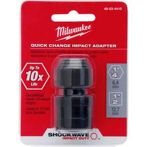 "Milwaukee SHOCKWAVE™ Power Bit Socket Adapter 1/2"" Square to 1/4"" Hex - 48034410"