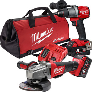 Milwaukee M18 FUEL™ Power Pack 2B2 with Bonus M18 5.0Ah REDLITHIUM-ION Battery Pack - M18FPP2B2-502B