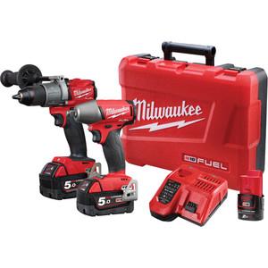 Milwaukee M18 FUEL® 2 Piece Power Pack 2C2 with Bonus M12 2.2Ah Battery - M18FPP2C2-502C