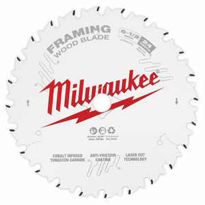 "Milwaukee 6-1/2"" 165mm 24T FRAMING Blade - 48408620"