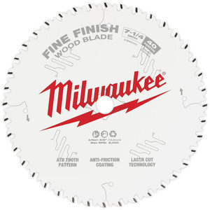 "Milwaukee 7-1/4"" 184mm 40T FINE FINISH Blade - 48408726"