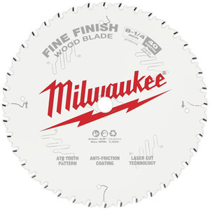 "Milwaukee 8-1/4"" 210mm 40T FINE FINISH Blade - 48408822"