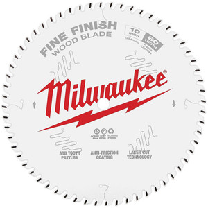 "Milwaukee 10"" 254mm 60T FINE FINISH Blade - 48408028"