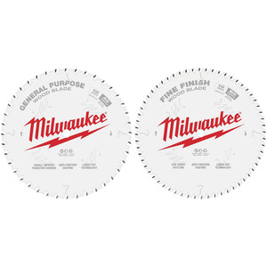 "Milwaukee 10"" 254mm 40T GENERAL PURPOSE + 60T FINE FINISH 2 pack - 48408036"