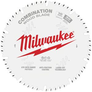 "Milwaukee 10"" 254mm 50T COMBINATION Blade - 48408026"