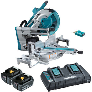 """Makita 18Vx2 Brushless 305mm(12"""") Slide Compound Saw Kit with AWS Receiver- DLS211PT2U"""