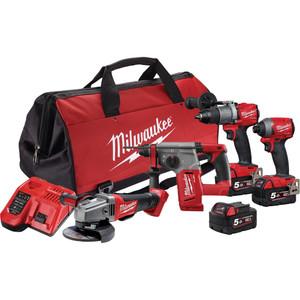 Milwaukee M18 FUEL® 4 Piece Power Pack 4A2 - M18FPP4A2-503B