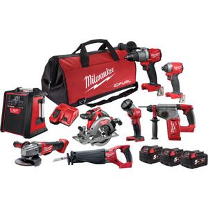 Milwaukee M18 FUEL® 8 Piece Power Pack 8A2 - M18FPP8A2-503B