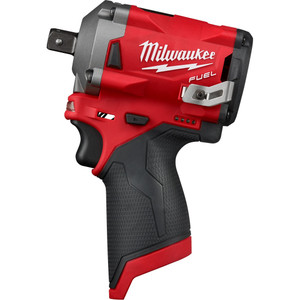 """Milwaukee M12 FUEL 1/2"""" Stubby Impact Wrench with Pin Detent (Tool Only) - M12FIWP12-0"""
