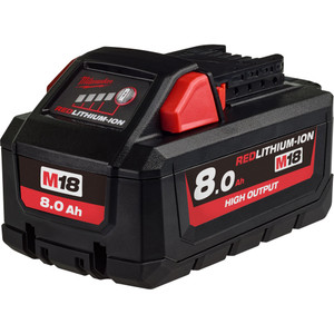Milwaukee M18™ REDLITHIUM®-ION HIGH OUTPUT 8.0Ah Battery Pack - M18HB8