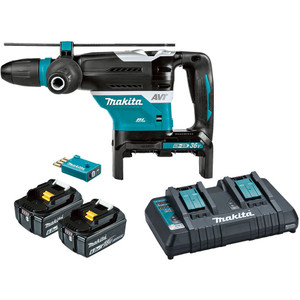 Makita 18V x 2 Brushless 40mm SDS MAX Rotary Hammer Kit - DHR400PG2U