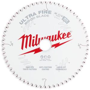 "Milwaukee 210mm (8 1/4"") Ultra Fine 60T Circular Saw Blade - 48408824"