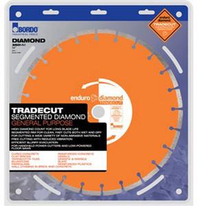 Bordo Tradecut 400mm Segmented Rim High Diamond Count General Purpose Blade - 7470-400