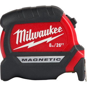 Milwaukee Compact Magnetic Tape Measure 8m/26ft - 48220526