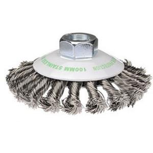 Bordo 115mm Twist Knot Bevel Brush Stainless Steel M14x2 - 5113-115-3.5