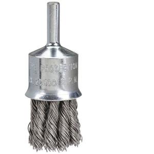 "Bordo 25mm Twist Knot End Brush Stainless Steel 1/4"" Shank - 5120-25.5"