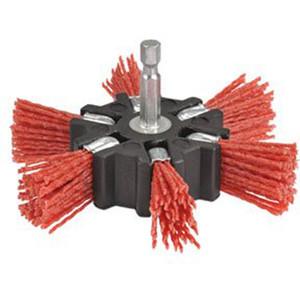 """Bordo 100mm NylonGrit Flapper Brush1/4"""" Hex Shank - 5156-100S"""